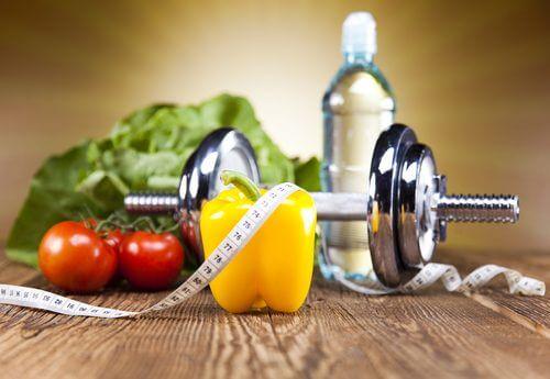 Warzywa i przyrządy do ćwiczeń