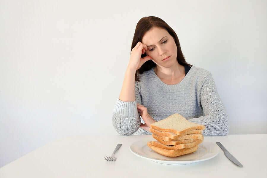 Kobieta z nietolerancją glutenu