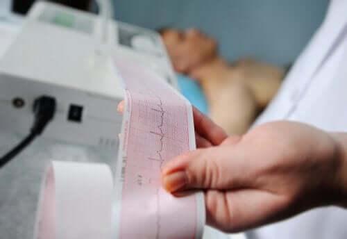 EKG diagnozujące ból w klatce piersiowej