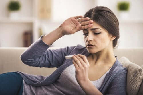 Kobieta z gorączką