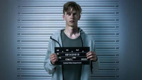 Mężczyzna w areszcie