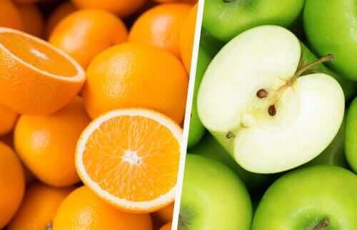 Pomarańcze i jabłka