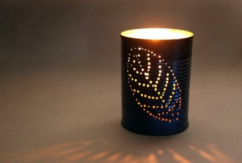 Blaszany lampion