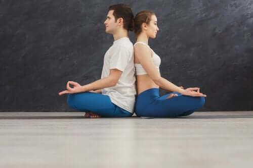 Para ćwiczy jogę