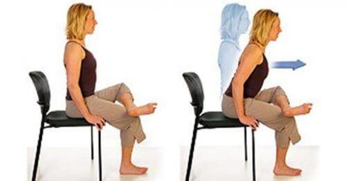 Ćwiczenia fizyczne na krześle