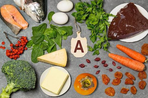 Jedzenie z witaminą A