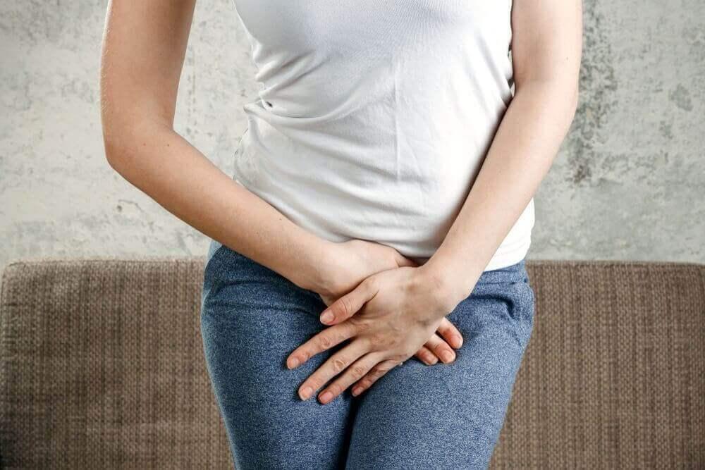 Kobieta z infekcją pochwy