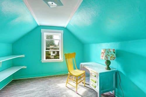 Morski kolor na ścianach
