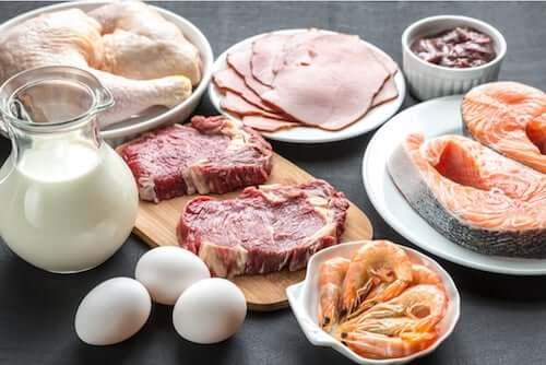 Produkty z białkami