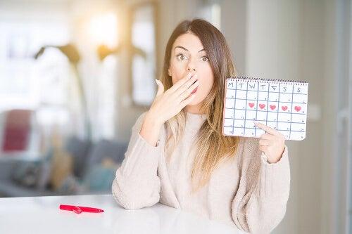 Kalendarzyk menstruacyjny