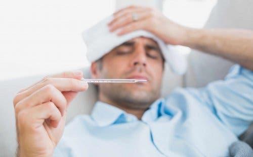 Mężczyzna z gorączką