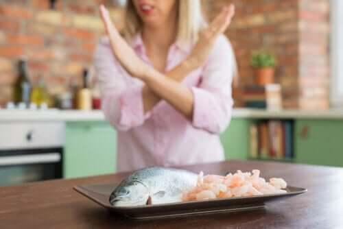Alergia na owoce morza: objawy, powikłania i leczenie