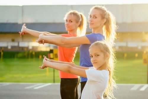 Dzieci uprawiające sport
