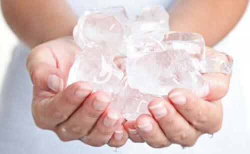 lód w dłoniach