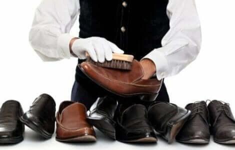 Czyszczenie butów z zamszu