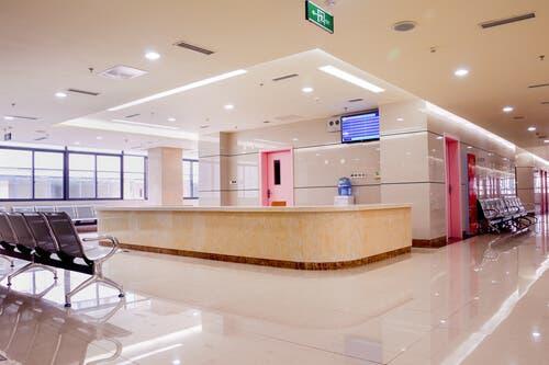 Poczekalnia w szpitalu - technika aseptyczna