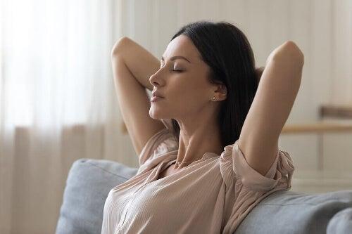 Kobieta w trakcie relaksu