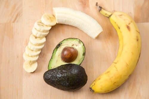 Banan i awokado