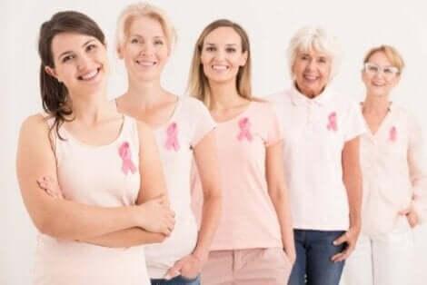 Kobiety wyleczone z raka piersi