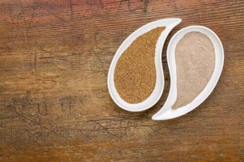 Mąka i nasiona teff