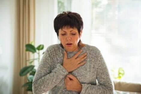 Dysfagia powoduje czasem kłopoty z oddychaniem