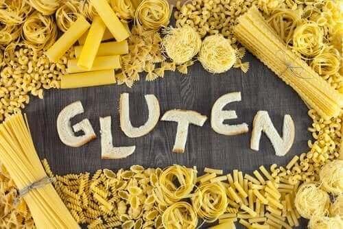 Napis gluten i makaron