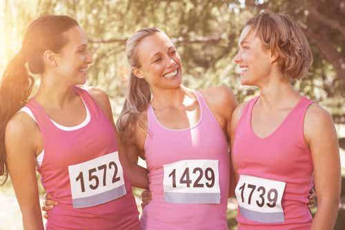 Biegaczki na zawodach