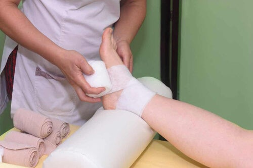 Bandażowanie stopy
