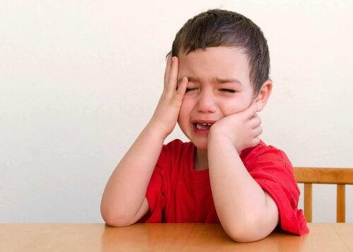 Zapłakane dziecko