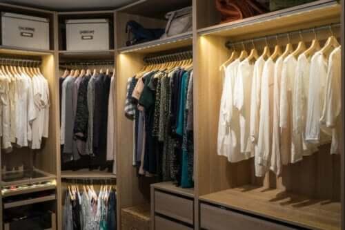 Oświetlenie garderoby - 8 kluczowych zasad